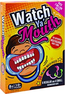 Amazon Com Watch Ya Mouth Family Edition The Authentic Hilarious Mouthguard Party Game Toys Games