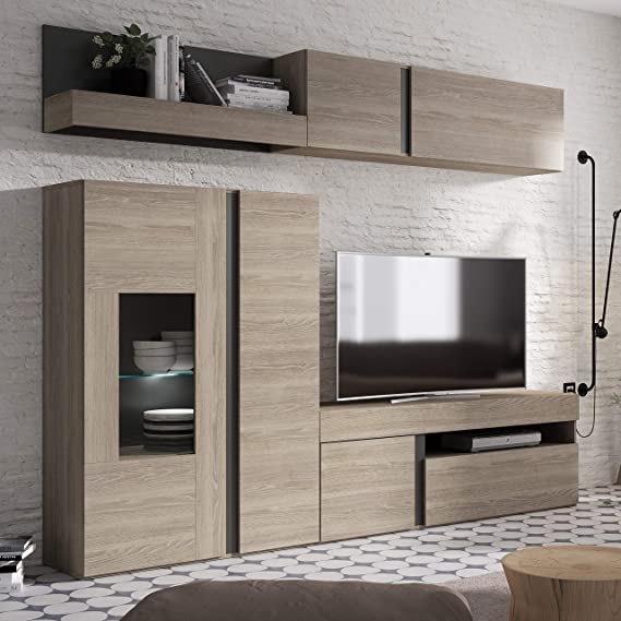 Inhome 70600TR - Mueble de comedor, salón con vitrina luz ...