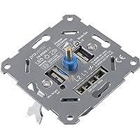 proventa® universele dimmer, inbouw-draaimachine voor het dimmen van LED- en halogeenlampen, LED 3-150 W, halogeen 10…