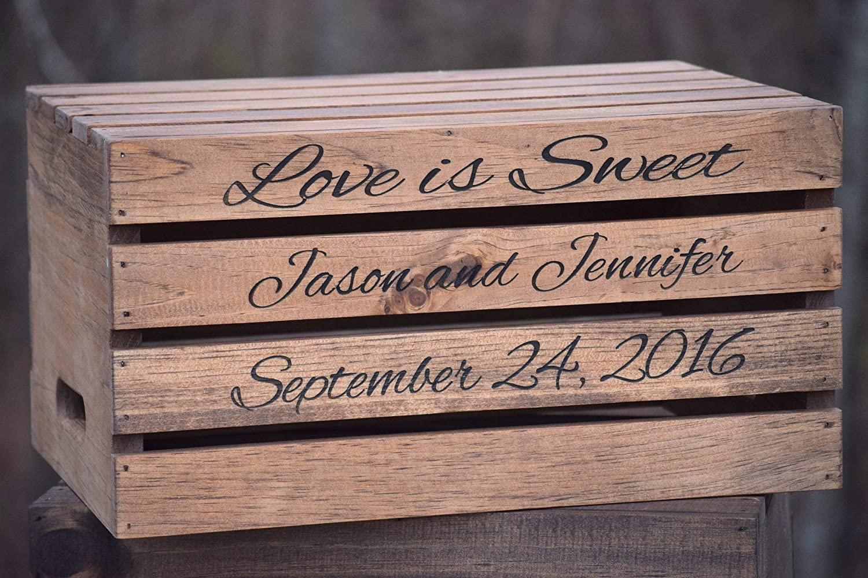 B01D53MZ7Y Rustic Wedding Cake Stand - Rustic Crate Personalized Wooden Cake Stand - Rustic Wedding Decor Wedding Cake Stand - Cake Stand - Cake Crate 91Or1pIIfLL