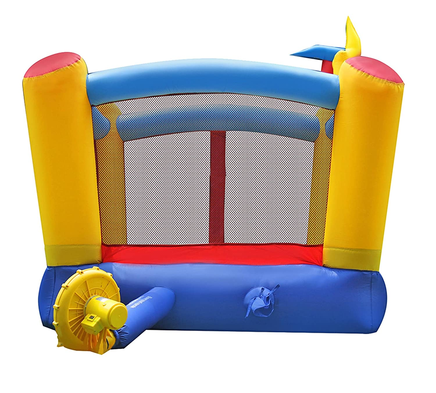 Amazon.com: BestParty Bounce House with Rotating Windmill,With ...