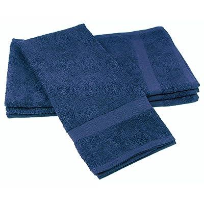 "Towels by Doctor Joe (DBS-16273-NAVI-2EA-2PK) Safe-2-Bleach Navy Blue 16"" x 27"" Plush Cotton Salon Towel, (Pack of 2): Automotive"