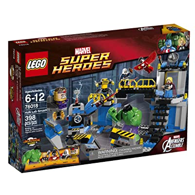 LEGO Superheroes 76018 Hulk Lab Smash: Toys & Games