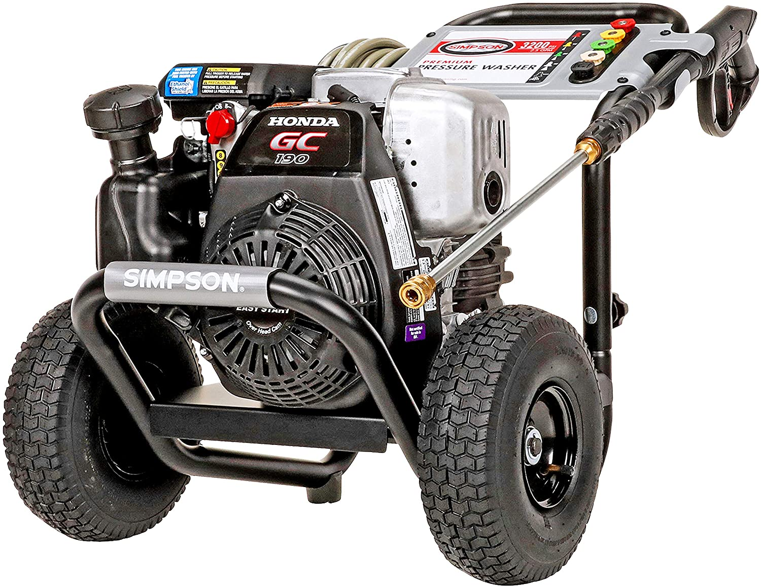 Simpson Cleaning MSH3125 MegaShot Gas Pressure Washer Powered by Honda