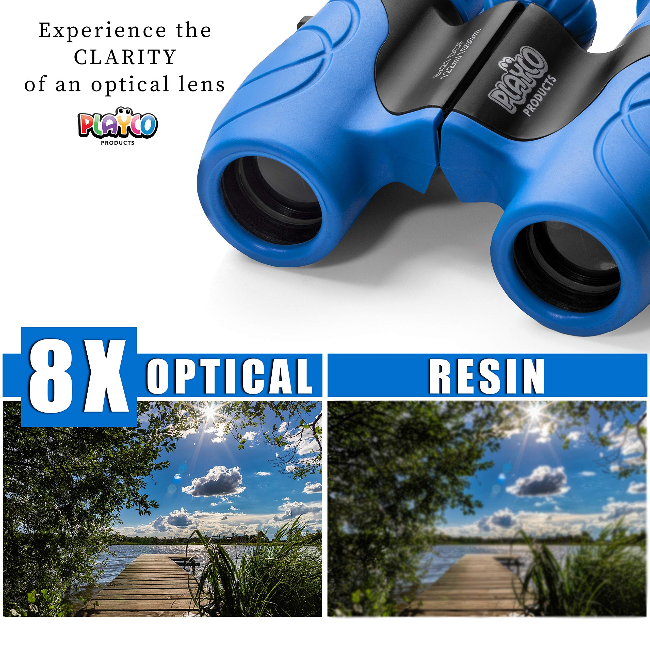 Playco Walkie Talkies and Binoculars for Kids - 2 Mile Range, Crystal Clear Sound, 8X21 Optical Lens by Playco (Image #5)