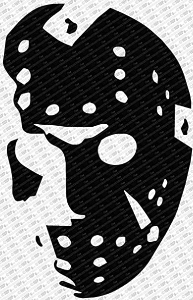 Collectible Decals Friday The 13th Jason Vorhees Hockey Mask Die Cut Vinyl Decal Sticker (10