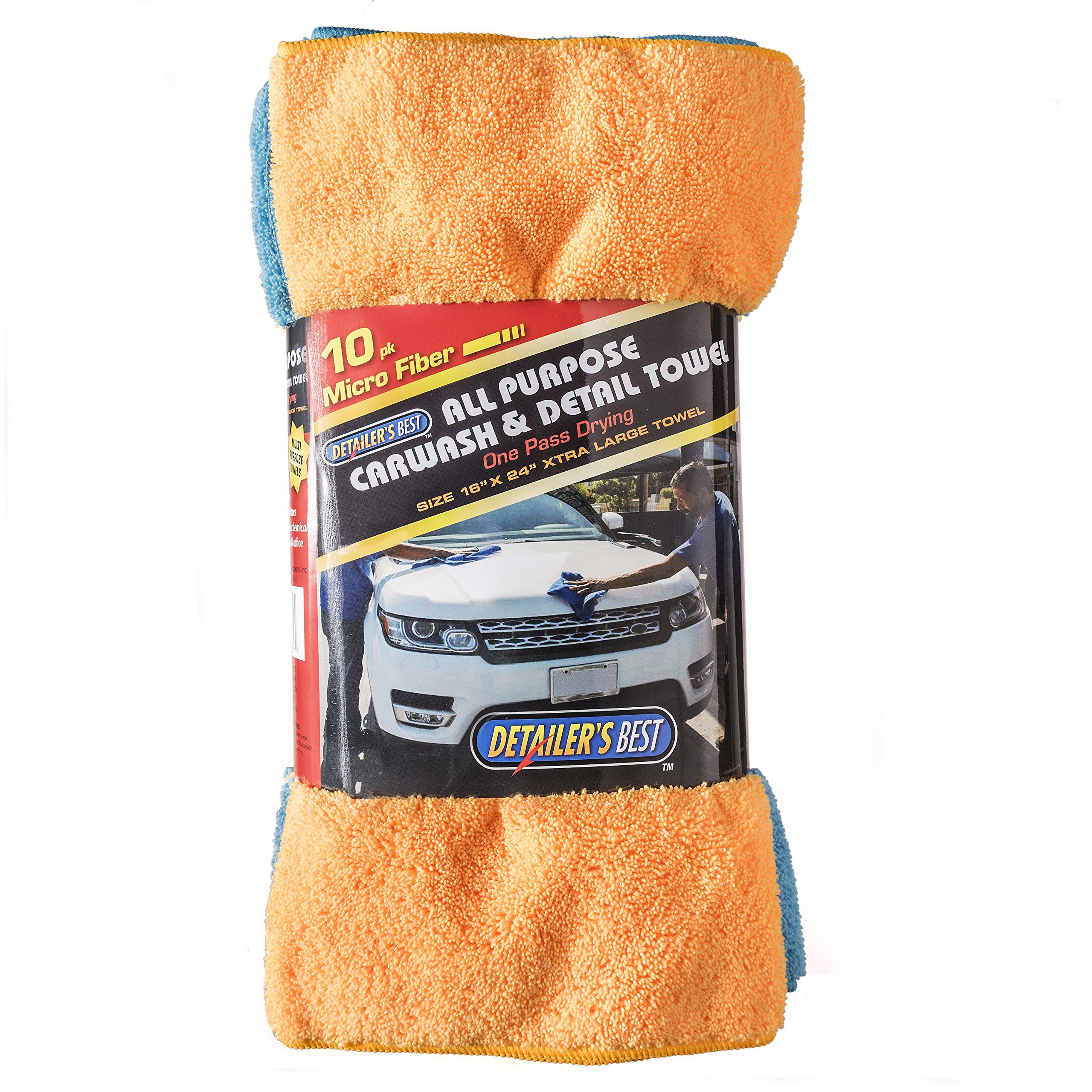 Simpli-Magic 10 Pack 79104-10 PK Blue and Yellow XL Microfiber Towels-Size: 24'' x 16'', 10 Pack