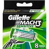 Gillette Mach 3 Sensitive Power Blades - Pack of 8 Blades