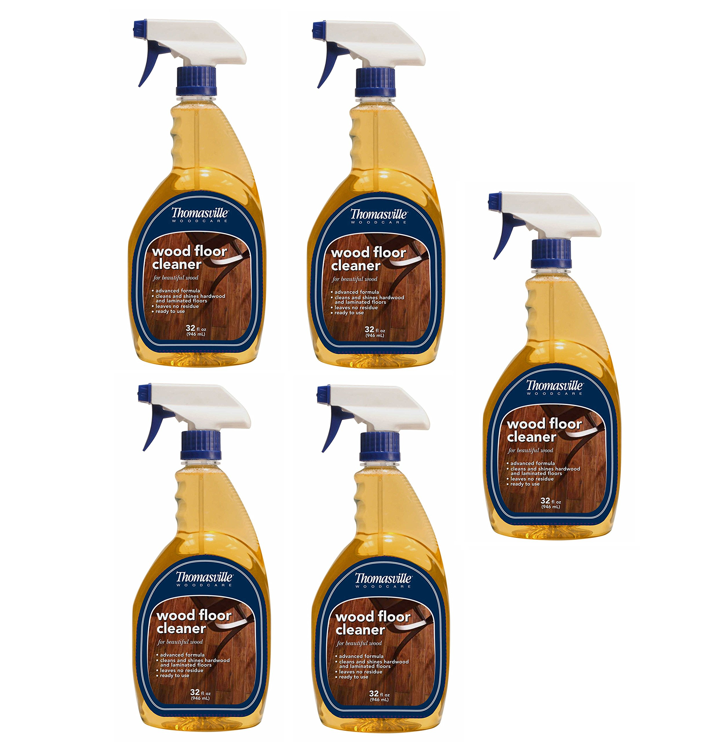 Thomasville Wood Floor Cleaner 32 Oz Spray Bottle Dries without streaking (Pack of 5) Made in USA