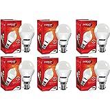 Eveready Base B22 9-Watt LED Bulb (Pack of 6, Cool Day White Light)