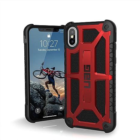 uag iphx-m-cr custodia antiurto per iphone x rosso/nero