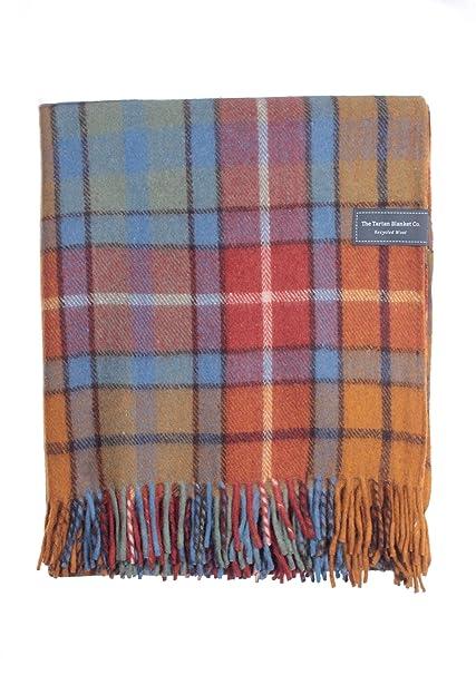 45bad2db508a4 Amazon.com: The Tartan Blanket Co. Recycled Wool Blanket Buchanan Antique  Tartan (59