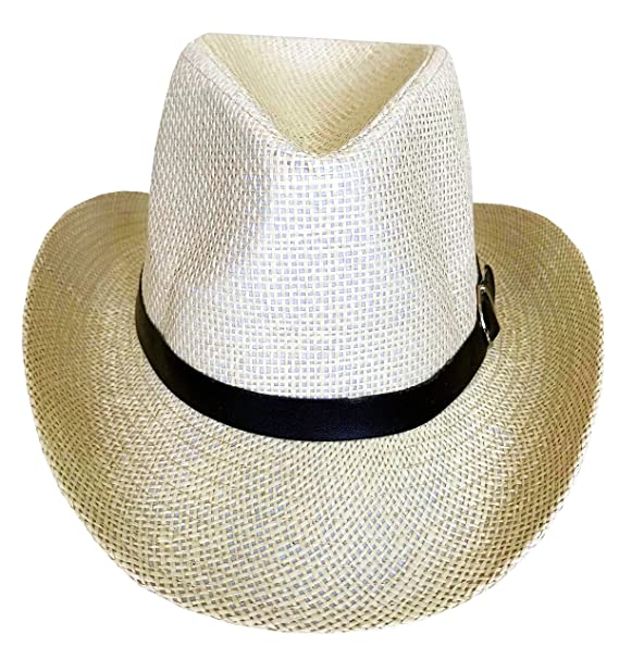9659d72e75e91 SYNC WITH STYLE Sombrero Vaquero De Paja Unisex para Hombres Y Mujeres