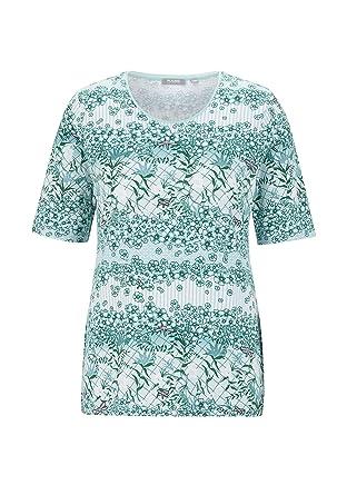 8416df48b6d1c8 Rabe Damen T-Shirt mit Mustermix und Rundkragen