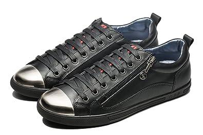 OPP Designer Men's Lace up Leather Low Top Fashion Sneaker Shoes (6 D(M
