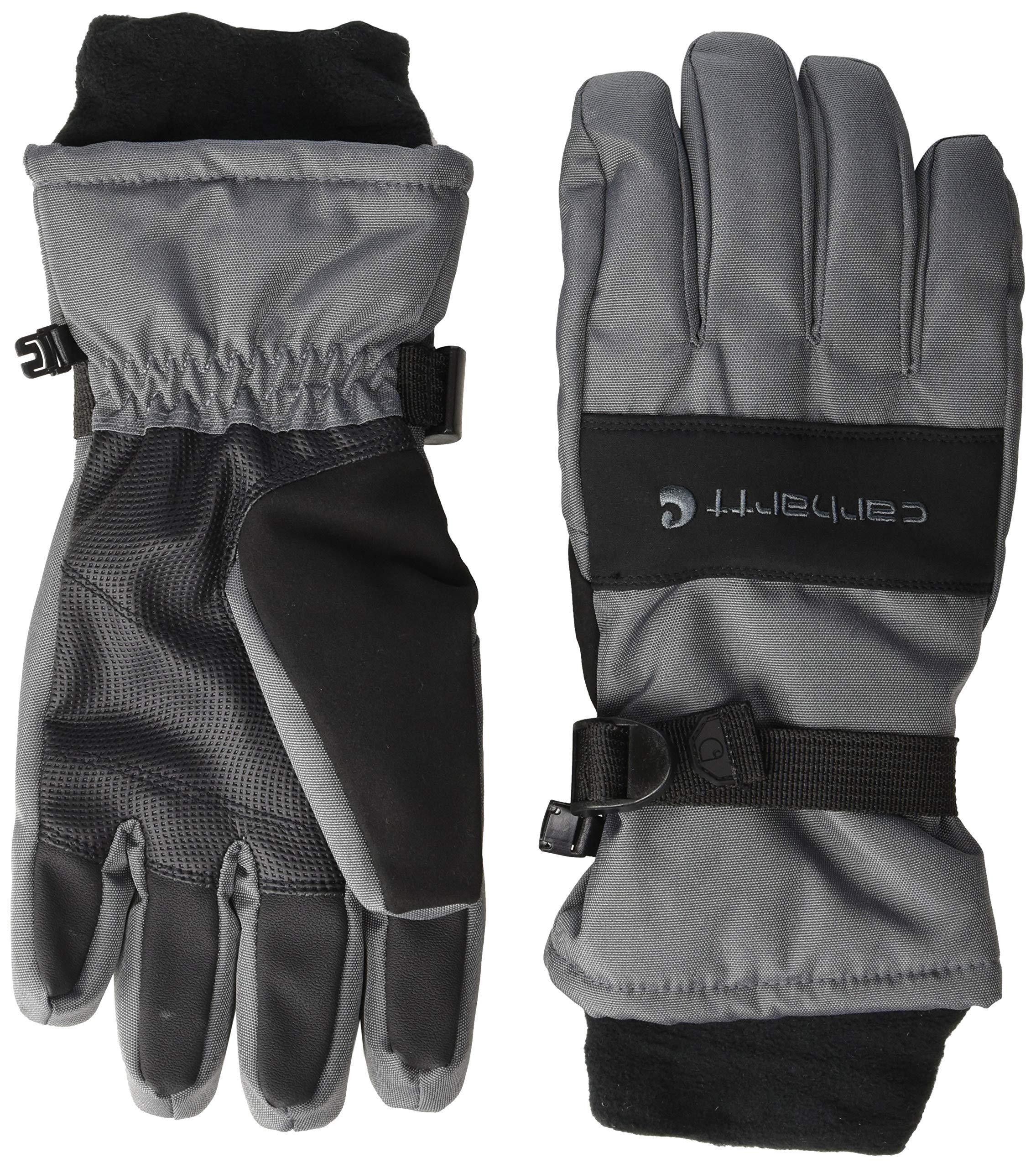Carhartt Men's W.P. Waterproof Insulated Glove, dark grey/black S