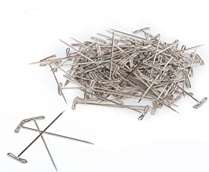 T Pins, Stainless Steel T-pins - Nickel Plated - 300 Pcs (2 Inch)