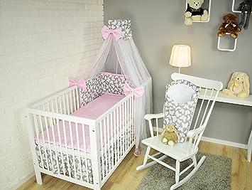 Amilian Baby Bettwäsche 5tlg Bettset Mit Nestchen Kinderbettwäsche