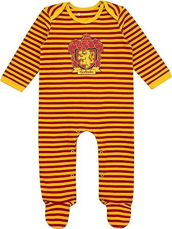 HARRY POTTER Pijama Entera con Babero para Niños Bebés Gryffindor