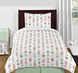 Accent Floor Rug Bedroom Décor for Grey, Coral and