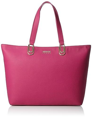 5f878f36396a Armani Jeans Borsa Shopping, Cabas femme, Pink (Fuchsia), 30x12x46 cm (