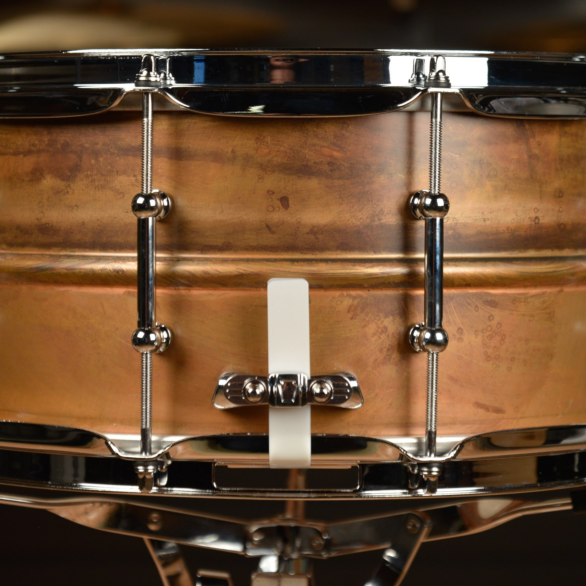 Ludwig Copper Phonic Smooth Snare Drum 14 x 6.5 in. Raw Smooth Finish with Tube Lugs by Ludwig (Image #5)
