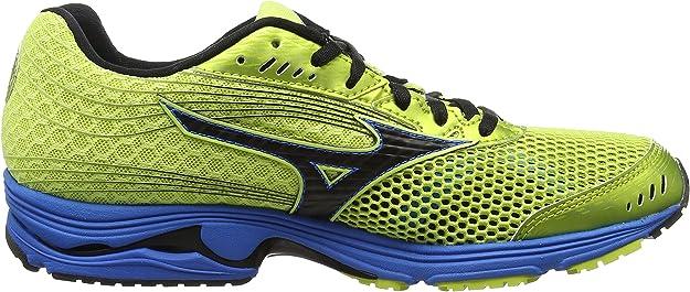 Mizuno Wave Sayonara 3, Zapatillas de Entrenamiento para Hombre, Verde (WildLime/Black/DireBlue), 47 EU: Amazon.es: Zapatos y complementos