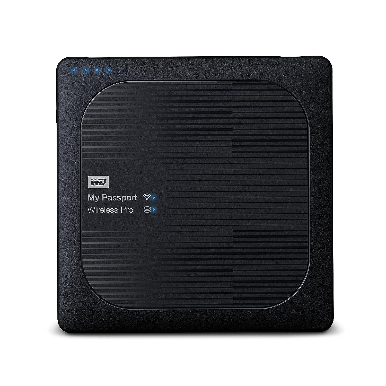WD 4TB My Passport Wireless Pro Portable external Hard Drive - WiFi USB 3 0  - WDBSMT0040BBK-NESN