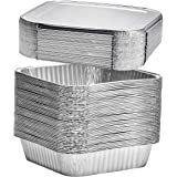 """8"""" Square Disposable Aluminum Cake Pans - Foil Pans perfect for baking cakes, roasting, homemade breads 