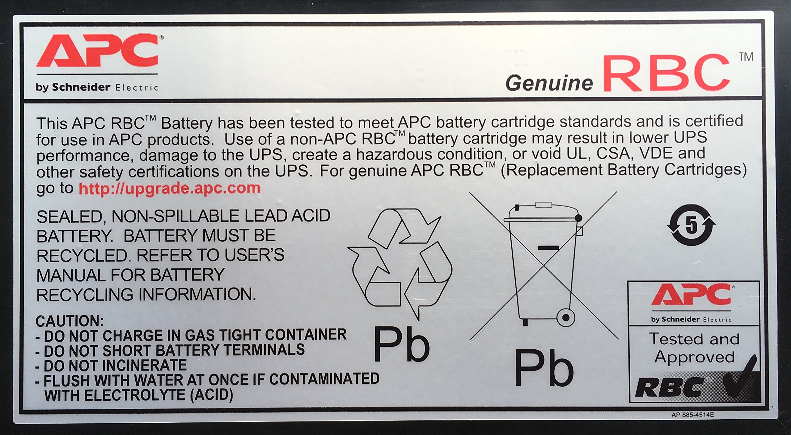 APC UPS Battery Replacement for APC UPS Models SMT750, SMT750US, SUA750 and Select Others (RBC48) by APC (Image #2)