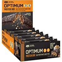 Optimum Nutrition Optimum Protein Bar by 10 X 60g Protein Bars, Chocolate Peanut Butter Flavour with Whey Protein Isolate & No Added Sugar, 10 Bars