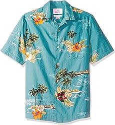 e8c166ef Amazon Brand - 28 Palms Men's Relaxed-Fit 100% Cotton Tropical Hawaiian  Shirt