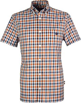 Aquascutum Men`s York Club Check Short Sleeves Shirt