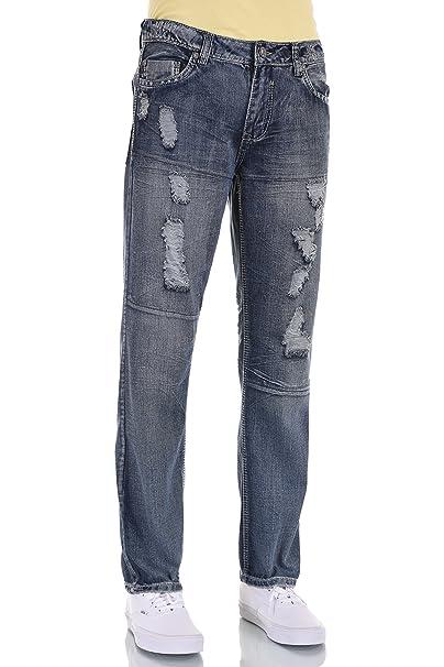 Amazon.com: Eagle Azul de los hombres jeans slim Straight ...
