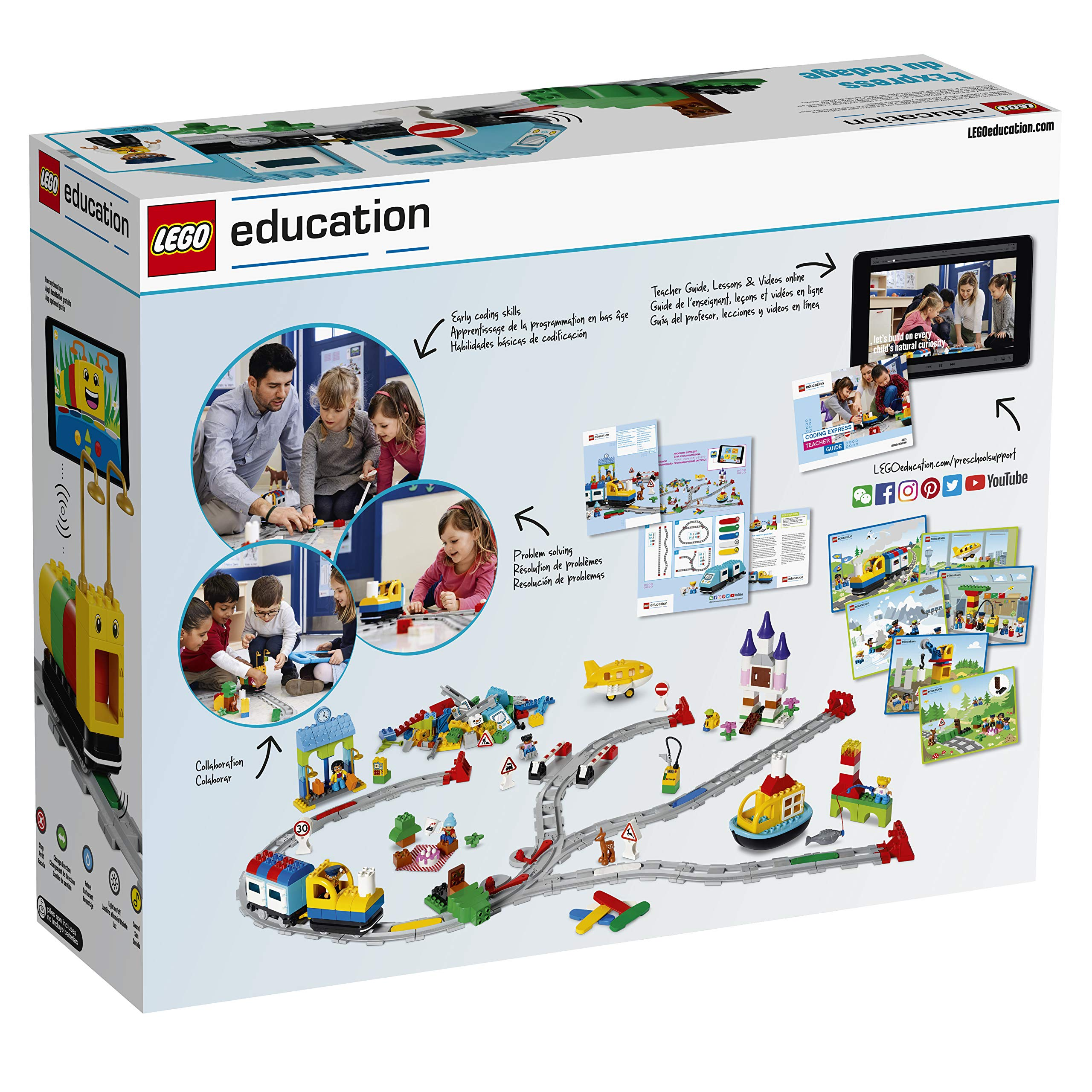 LEGO Education Duplo Coding Express 45025, Fun STEM Educational Toy, Introduction to Steam Learning for Girls & Boys Ages 2 & Up (234Piece ) by LEGO Education (Image #2)