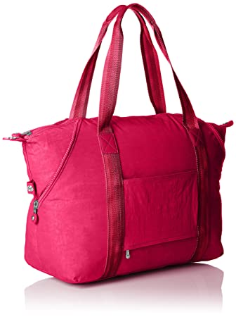 Amazon.com | Kipling Art M, Medium Travel Tote, 58 cm, 26 liters, Pink (Cherry Pink C) | Travel Totes