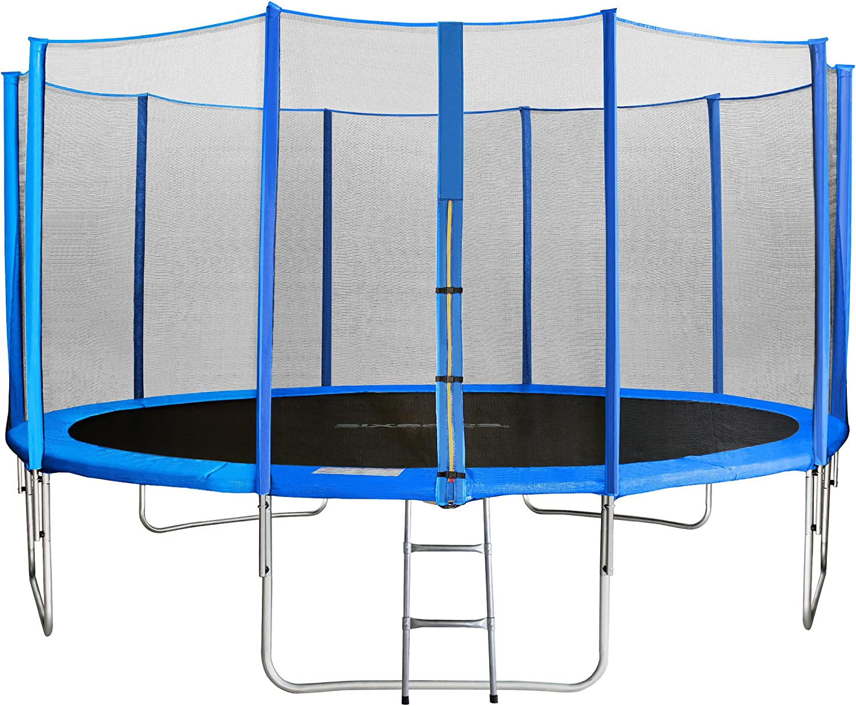 SixBros. SixJump Trampolín Cama elástica de jardín - Escalera - Red de Seguridad - Lluvia Cobertura: Amazon.es: Deportes y aire libre