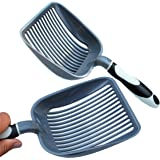"Sifter w/ Deep Shovel - Designed by Cat Owners - Odor and Antimircrobial Durable ABS Plastic."" Solid Core Handle. iPrimio Patent Pending."