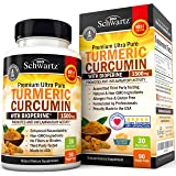 Turmeric Curcumin with BioPerine 1500mg. Highest Potency Available. Premium Pain Relief & Joint Support with 95% Standardized Curcuminoids. Non-GMO, Gluten Free Capsules with Black Pepper.