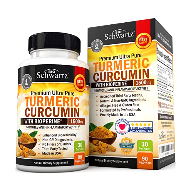 Turmeric Curcumin with Bioperine 1500mg. Highe...