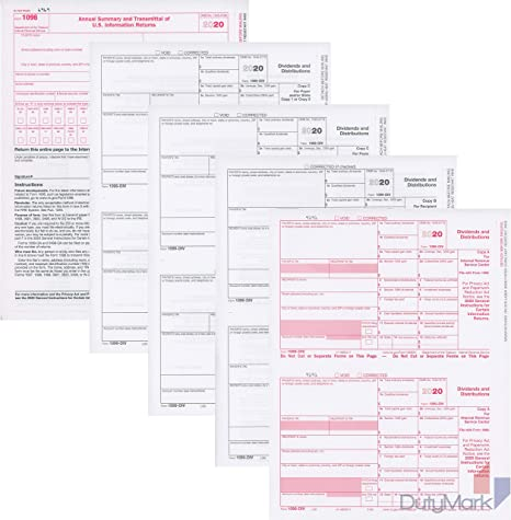 Laser Tax Form 1099-DIV Income Federal Copy A ~Pack of 100~ 2018