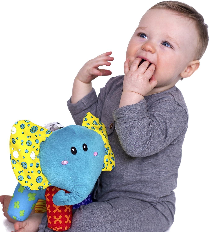 Nuby Elefuntastic Plush Activity Toy 92941 Elephant Unique Look Inc