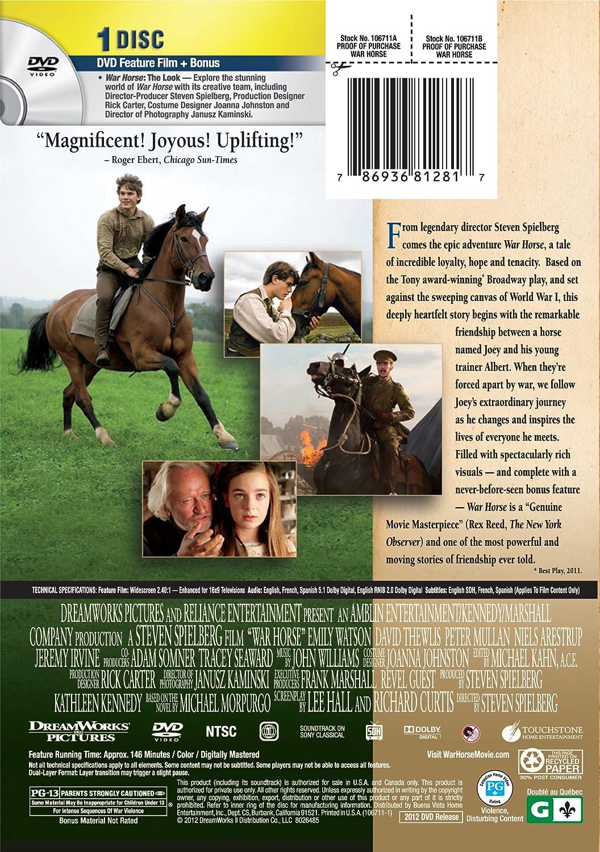 Amazon com: War Horse: Jeremy Irvine, Peter Mullan, Emily