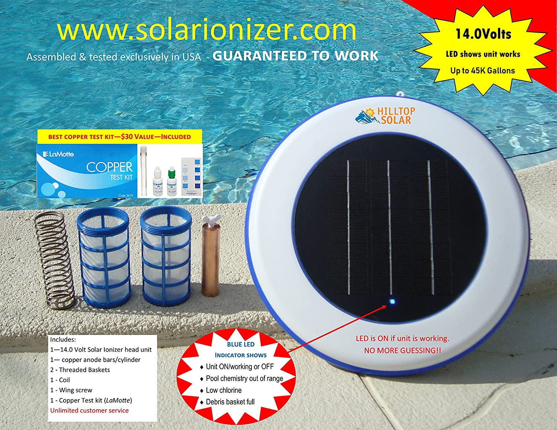 Amazon.com : Solar swimming pool Ionizer with LED (Lights up if unit ...