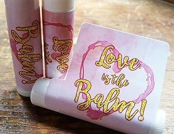 12 love is the balm lip balm favors bridal shower favors wedding favors