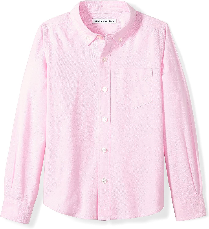 Pink Essentials Little Boys Long-Sleeve Uniform Oxford Shirt S 6-7