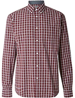 fa4b4bfeff00 Marks and Spencer Twill Pure Cotton Regular Fit Long Sleeve Mens ...