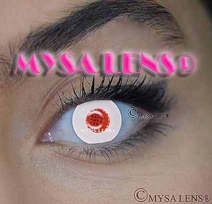 MYSA LENS® Lentilles De Contact De Couleur Fantaisie Crazy Lens Cosplay  Yeux Blanc Humanoid  e581aff44312