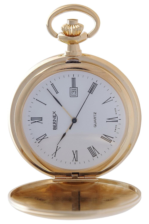 gb21134 – vergoldet – Full Hunter – Quarz-Uhrwerk – RÖmisches Zifferblatt – Strukturierte Zifferblatt
