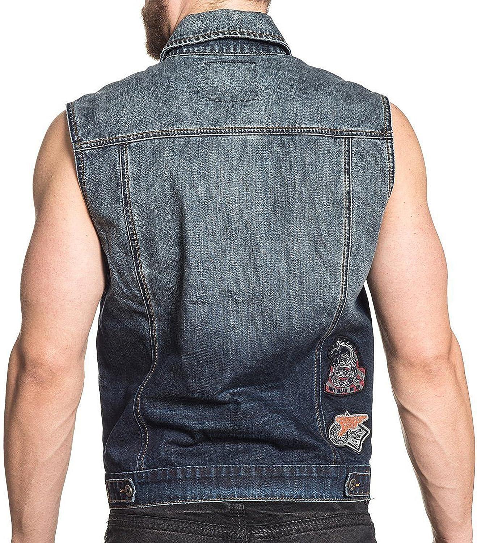 Affliction Vest Just Ride Vest Blue